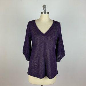 Eileen Fisher Purple Knit Blouse
